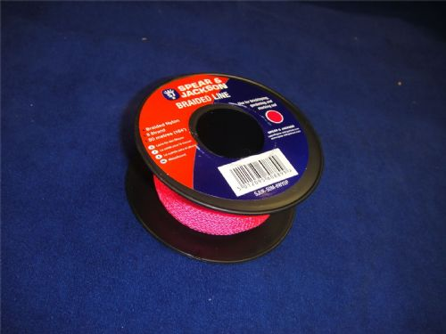 Spear & Jackson Pink Braided Nylon Bricklayers Line 50 Metre Spool UK50M8P